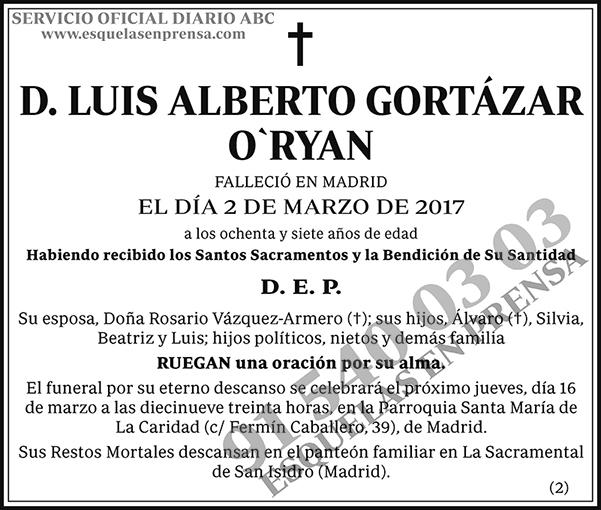 Luis Alberto Gortázar O`Ryan